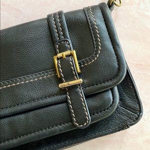 The Sak Black Pebble Leather Mini Satchel